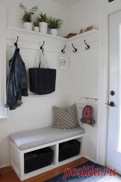 Идеи хранения в маленькой прихожей | Мой дом