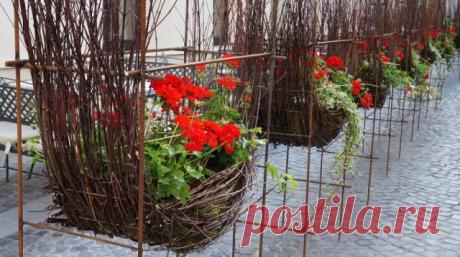40 идей, как сделать красивые уличные кашпо своими руками