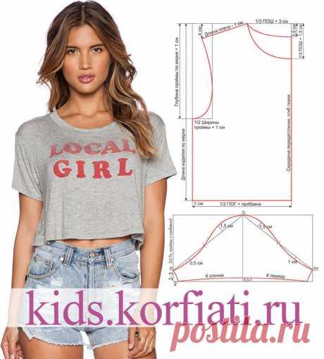 Выкройка футболки для девочки от Анастасии Корфиати