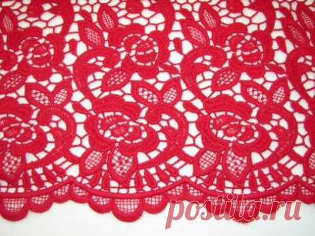 Шерстяное макраме - красный орнамент - купить ткань онлайн через интернет-магазин ВСЕ ТКАНИ