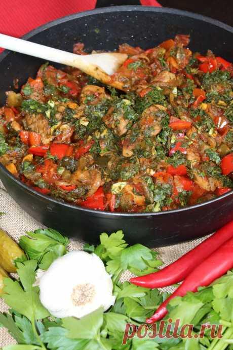 Кавказское застолье: Грузинская мясная солянка. Как ее приготовить. | вкусно#смачно | Яндекс Дзен