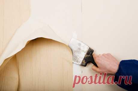 Как очистить стены от старых обоев