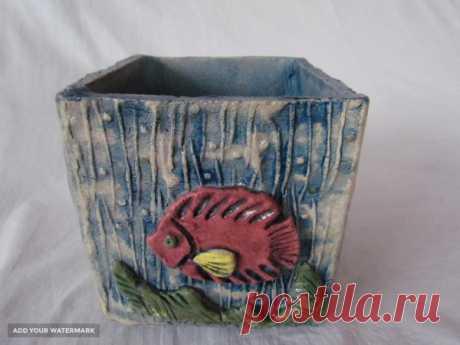 Керамический горшок для цветов Куб купить в Беларуси HandMade, цены в интернет магазинах