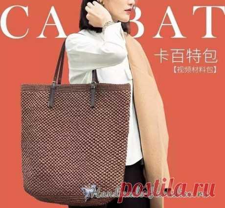Летняя стильная сумка-мешок крючком - Handmade-Paradise