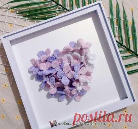 Цветы гортензии из синельной проволоки