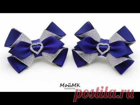 Adornado Clásico bantiki de la cinta de reps de Kanzashi MK DIY Classic bows Tutorial MoyMK