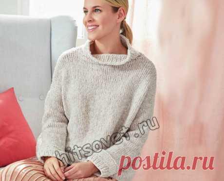 Серый вязаный свитер - Хитсовет