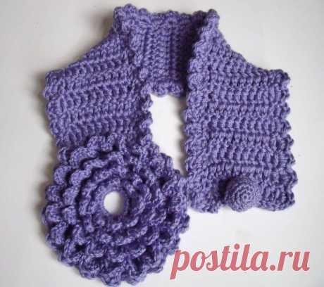 Маленькие вязаные шарфики