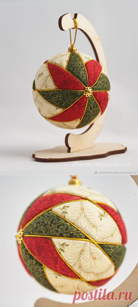 Елочный шар кимекоми 002 – купить в интернет-магазине на Ярмарке Мастеров с доставкой - GP56JRU | Тула