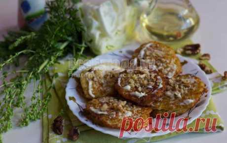 Капустные оладьи (капуста, яйца и мука) - Нежные с грецкими орехами и майонезом, рецепт с пошаговыми фото   Все Блюда