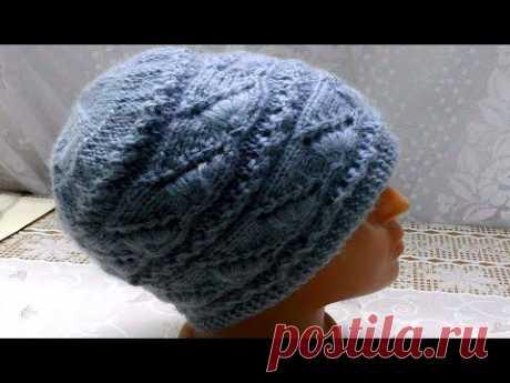 Двойная зимняя шапочка