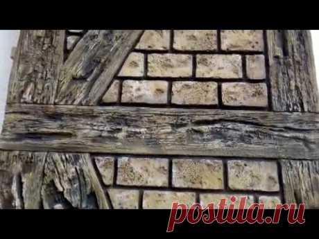 ДЕКОРАТИВНАЯ ШТУКАТУРКА стен под старое дерево и декоративный камень. Мастер: Жуков Михаил.