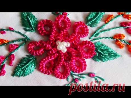 Hand Embroidery: Twisted Caston Double Stitch