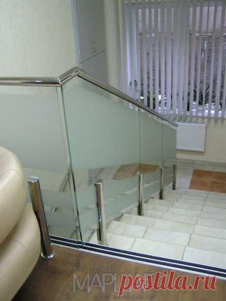 Изготовление лестниц, ограждений, перил Маршаг – Самонесущие перила на стойках