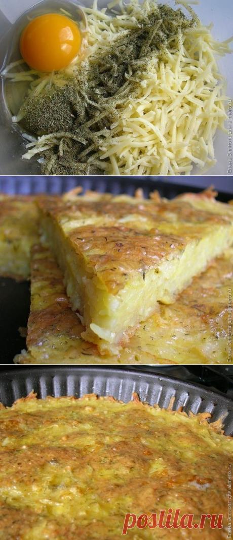 Запеканка из тертого картофеля с сыром и чесноком — Вкусные рецепты