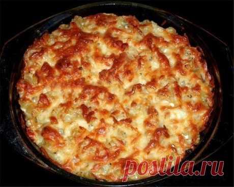 Как приготовить запеканка из макарон с курицей и грибами. - рецепт, ингредиенты и фотографии