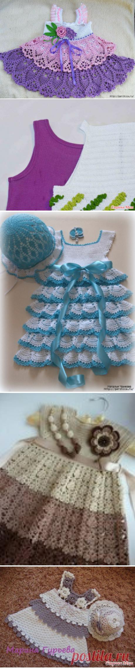 Как правильно вязать кокетку для детских платьев - советы и мк