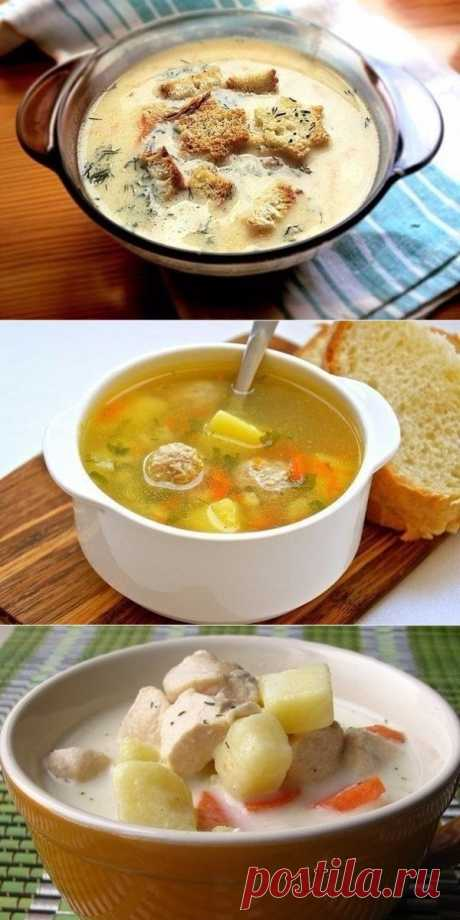 SELECTION OF SOUPS OF HEALTHY NUTRITION