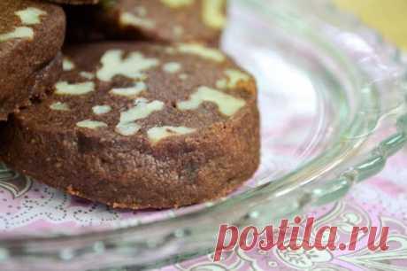 Шоколадно-ореховое песочное печенье (видео) | Вид с Большого острова