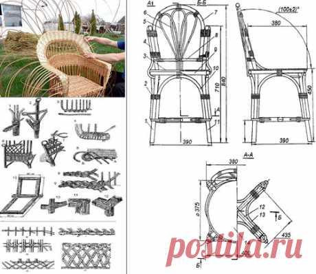 Сделать плетеное кресло: садовая мебель из лозы Сделанная мебель для дома своими руками