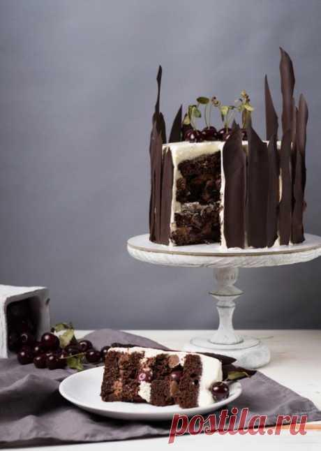 Торт «Черный лес» с пряной начинкой | HomeBaked