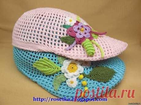 Летняя кепка для девочки (Вязание крючком) | Журнал Вдохновение Рукодельницы