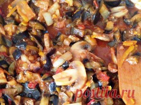 Тушенные баклажаны с овощами (пошаговый фоторецепт) | Шеф Повар