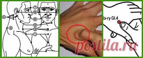 Точечный аккупунктурный массаж для поднятия иммунитета