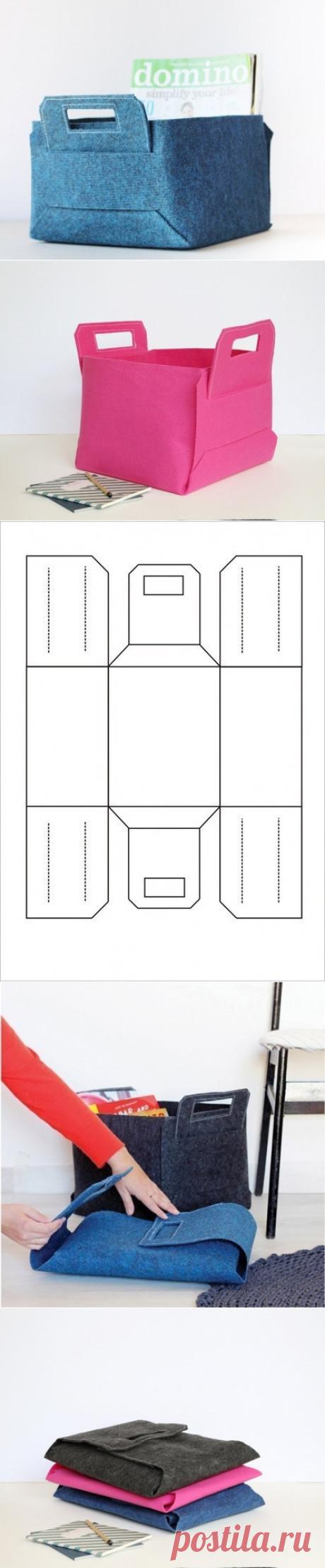 Box from felt or skin for storage of nuzhnost