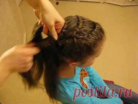 Beautiful hairdress from braids (option 5) of Hairstyle Zöpfen