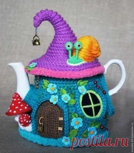 """Грелка на чайник """"Сказочный домик"""""""