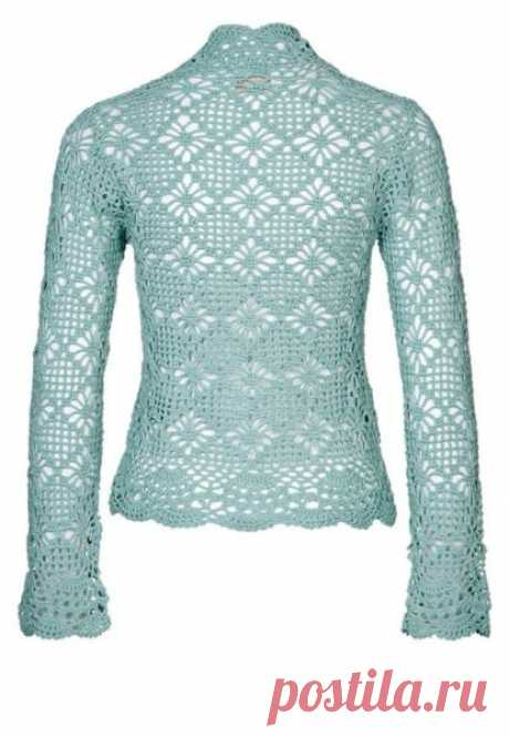 Jacket from openwork patterns a hook. Patterns for a jacket a hook. | I am a Hostess