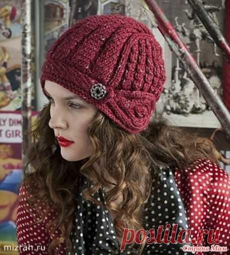 Шапочка-шлем из журнала Vogue Knitting.