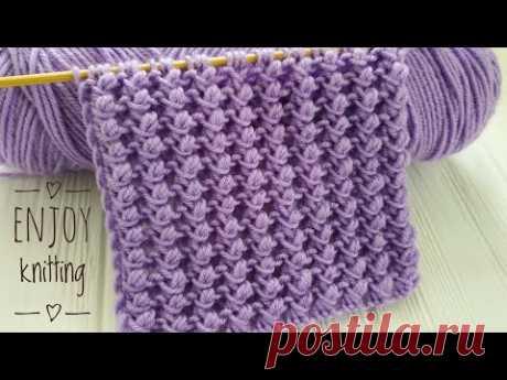 ОРИГИНАЛЬНЫЙ и КРАСИВЫЙ Объемный Узор спицами ПУЗЫРЬКИ | Узор  #51 | Nupps knitting stitch pattern - YouTube