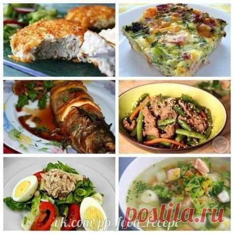 #povarvova 6 рецептов фитнес ужина!  Ужин должен состоять из белка и овощей. Овощей в два раза больше. чем белка.  Белок должен быть легким: рыба, морепродукты, творог, белый сыр, типа моцарелы или адыгейского, яйца, фасоль, чечевица, грибы. Из овощей на ужин хороши цветная капуста, зеленый салат, болгарский перец, томаты, брокколи, сельдерей, тыква, лук-порей, авокадо, топинамбур, а также огурцы, кабачки и цуккини в сезон. В идеале половина овощей на ужин должны быть сыры...