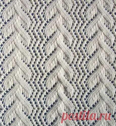 Красивый узор спицами: схема вязания