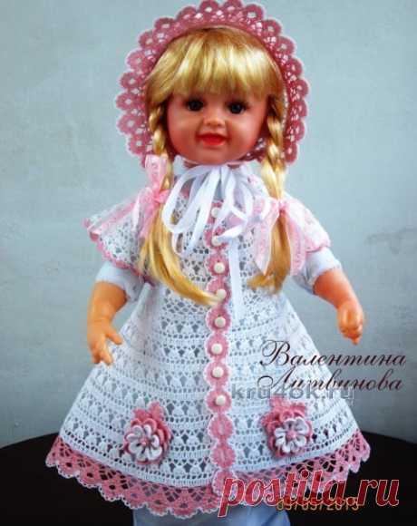 Платье, панама и капор для девочки – работы Валентины Литвиновой