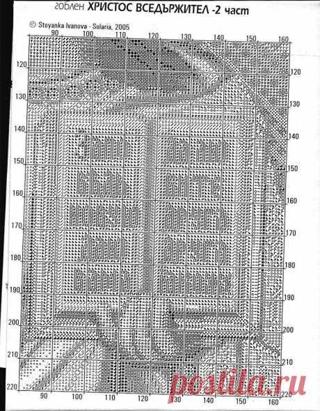 Ч3 Господь Вседержатель. Схема для вышивки крестиком бисером