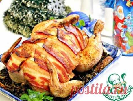 """La gallina \""""el Caballero en la armadura\"""" - la receta de cocina"""