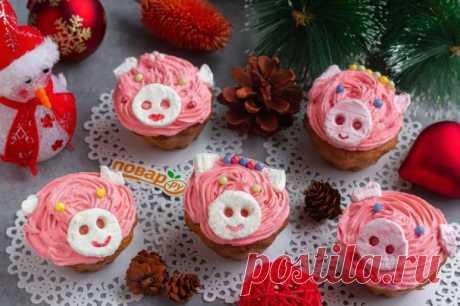 """Лимонные кексики """"Розовые свинки"""" - пошаговый рецепт с фото на Повар.ру"""