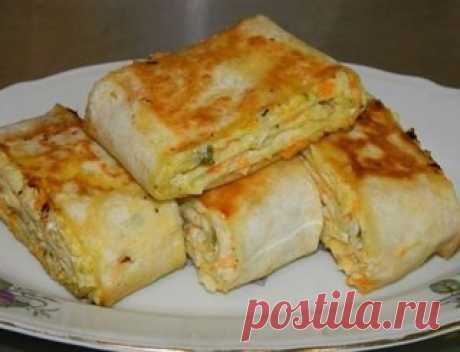 Хрустящая закуска  Ингредиенты:  ● 2 тонких лаваша Показать полностью…