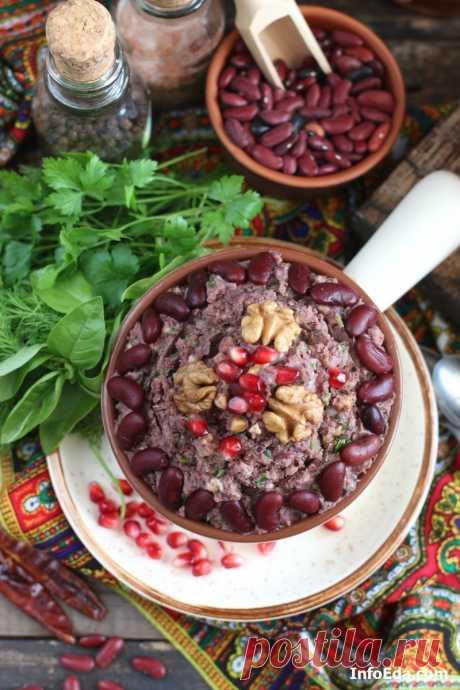 Лобио из красной фасоли: пошаговый фото рецепт | InfoEda.com