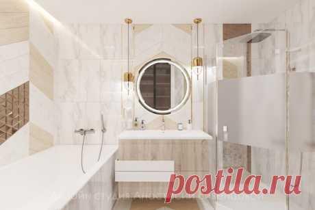 Проект ванной комнаты 5 кв.м в Санкт-Петербурге Дизайнер — Анастасия Вивенцова