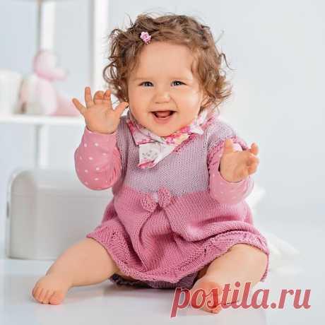 Платье для девочки спицами: 8 моделей с описанием, схемами, фото и видео мк