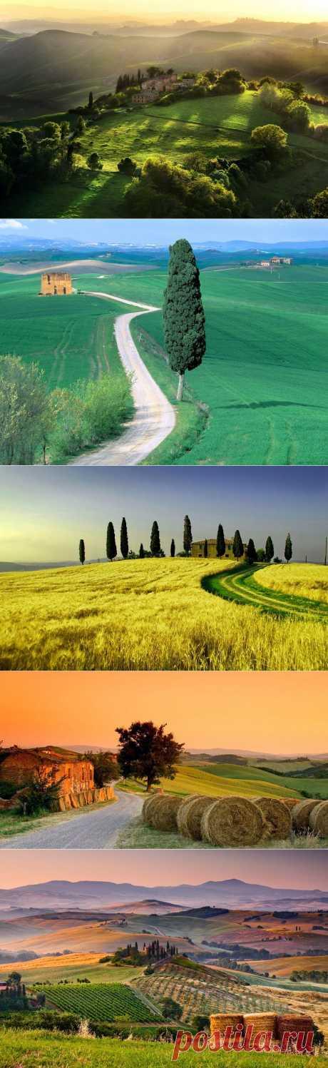 Пейзажи Тосканы, Италия (24 фото)