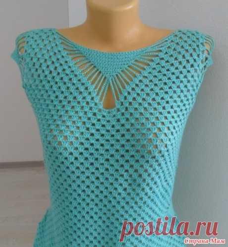 Блуза цвета мяты от Ангелины Озимок