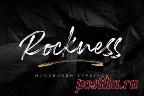 Rockness - Handbrush Typeface ~ Script Fonts ~ Creative Market