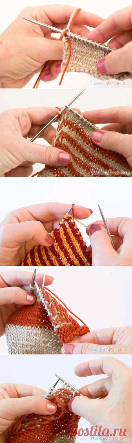Многоцветное вязание.