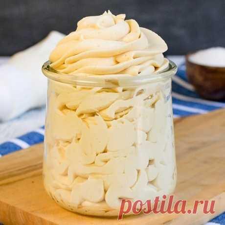Крем со вкусом соленой карамели