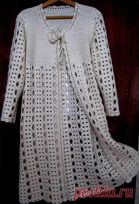 Summer cardigan hook lacy pattern. Cardigan hook scheme and description Summer cardigan hook lacy pattern. Cardigan hook scheme and description